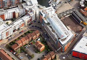 Jupiter Apartments Birmingham West Midlands aerial photograph