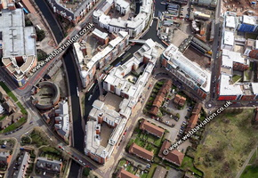 King Edwards Wharf Birmingham West Midlands aerial photograph