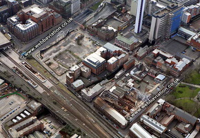 Ludgate Hill Birmingham West Midlands aerial photograph
