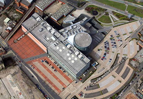 Millennium Point Birmingham West Midlands aerial photograph