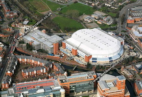 Barclaycard Arena / National Indoor Arena (NIA)  Birmingham West Midlands aerial photograph