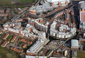 Oozells Street Loop of the New Main Line , Birmingham Canal Navigations (BCN)    Birmingham West Midlands aerial photograph