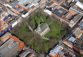 Birmingham Cathedral Birmingham West Midlands aerial photograph