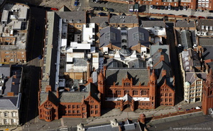 Victoria Law Courts Birmingham from the air