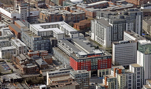 The Mailbox Birmingham  from the air