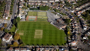 Bulls Head Cricket Ground from the air