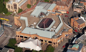 Cathedral Lanes Shopping Centre Broadgate Coventry  from the air