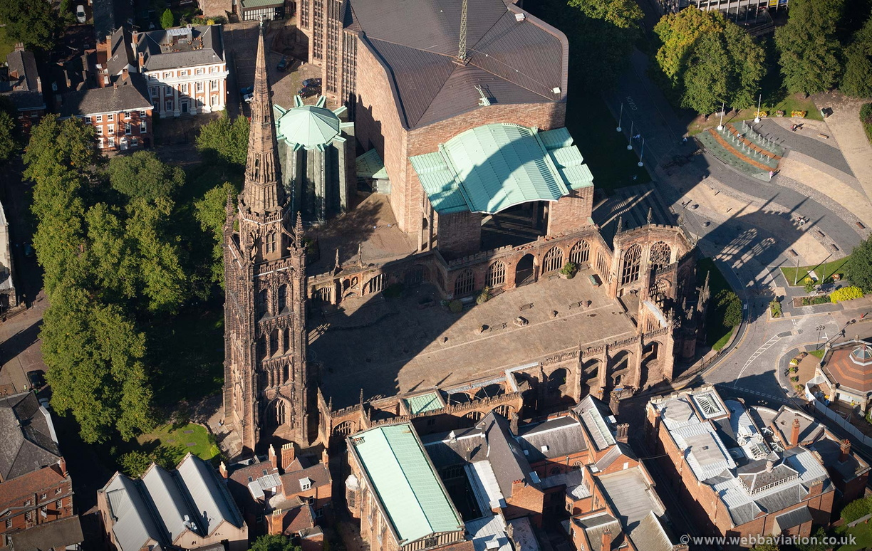 Coventry Cathedral  Coventry West Midlands aerial photograph