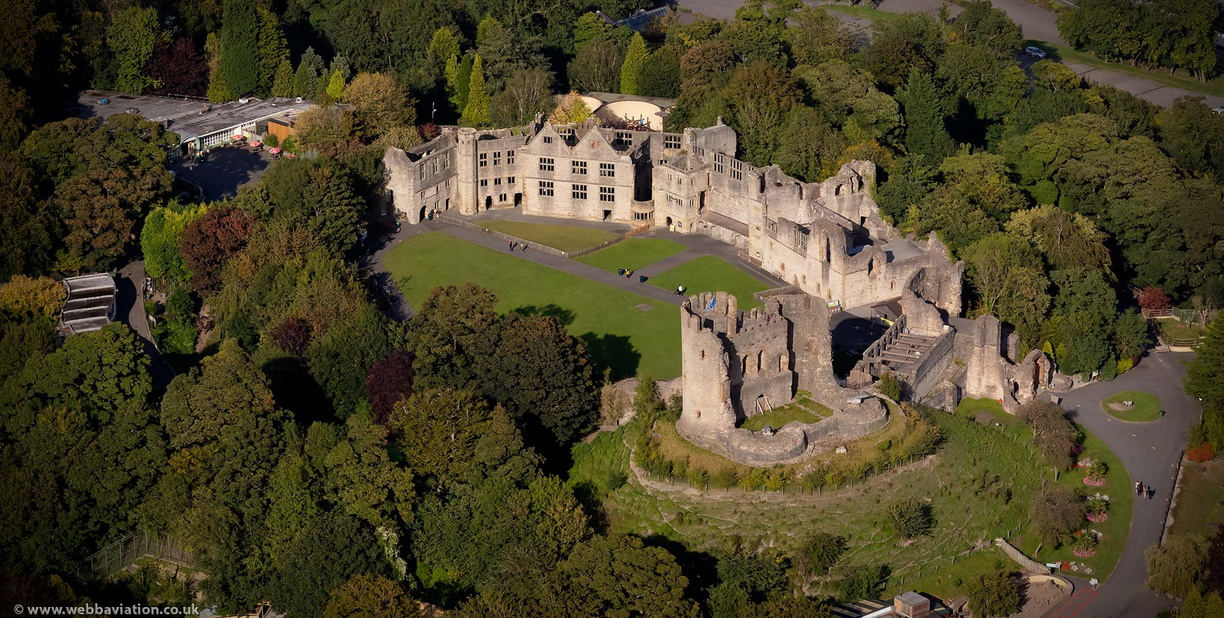 Dudley Castle from the air