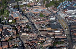 Dudley town centre  from the air