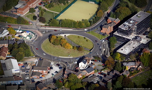 Earls Way Trinity Point roundabout in Halesowen    from the air