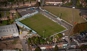 The Grove football ground , Halesowen  from the air