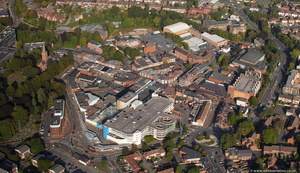 Halesowen town centre from the air