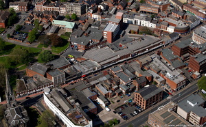 Hight Street  Dudleytown centre   West Midlands   from the air