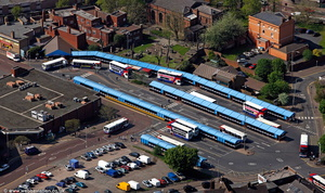 Dudley bus station  aerial photograph
