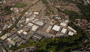 Corngreaves Trading Estate, Cradley Heath from the air