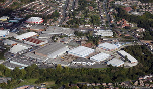 Cradley Business Park from the air