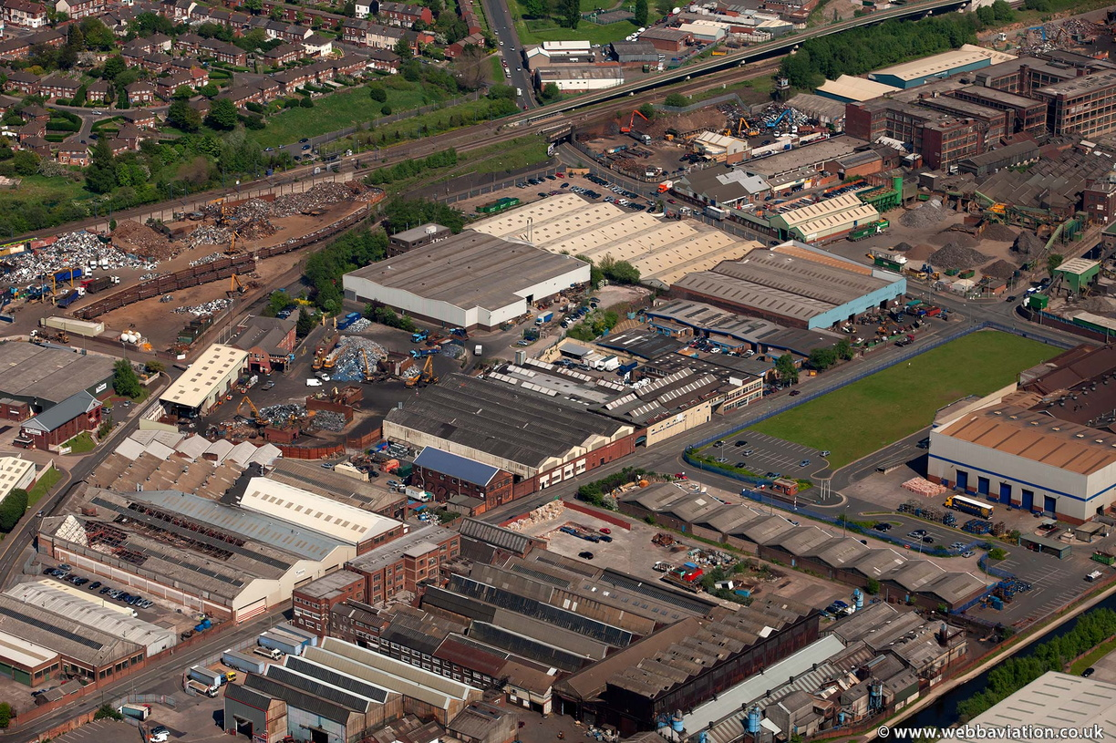 Cornwall Road Industrial Estate Smethwick   from the air
