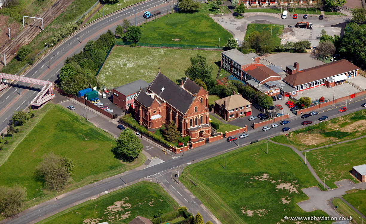 St. Philip Neri Church , Smethwick  from the air