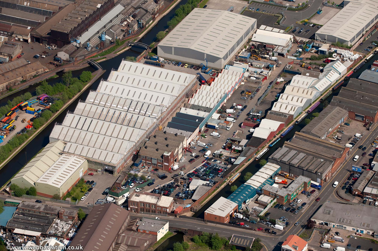 The Bridge Trading Estate in Smethwick   from the air
