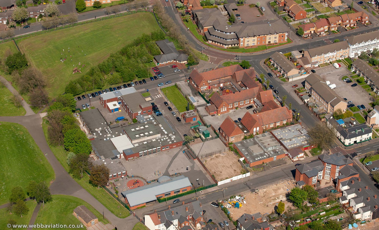Victoria Park Primary Academy School, Smethwick  from the air