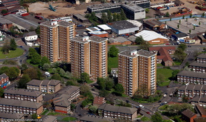 The Crofts, in Smethwick  from the air