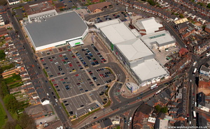 Windmills Shopping Park, Cape Hill, Smethwick B66 3PR  from the air