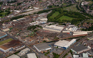 Soho Foundry from the air