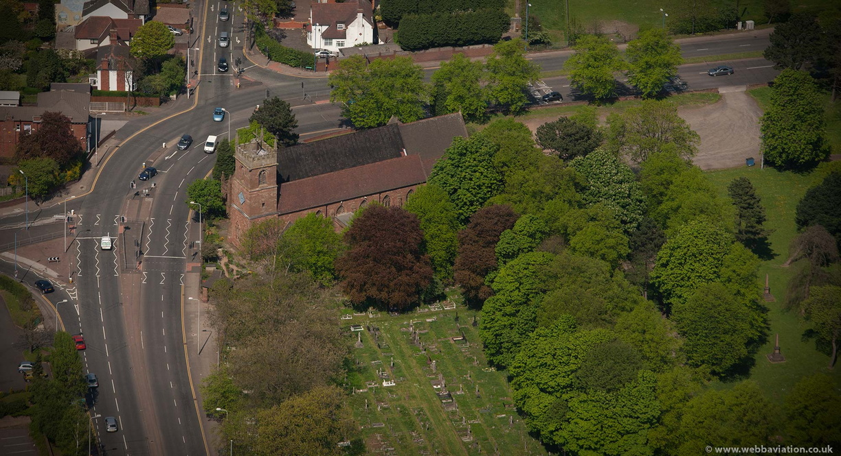 All Saints Parish Church  West Bromwich from the air