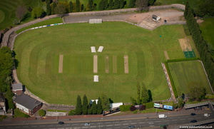 West Bromwich Dartmouth Cricket Club from the air