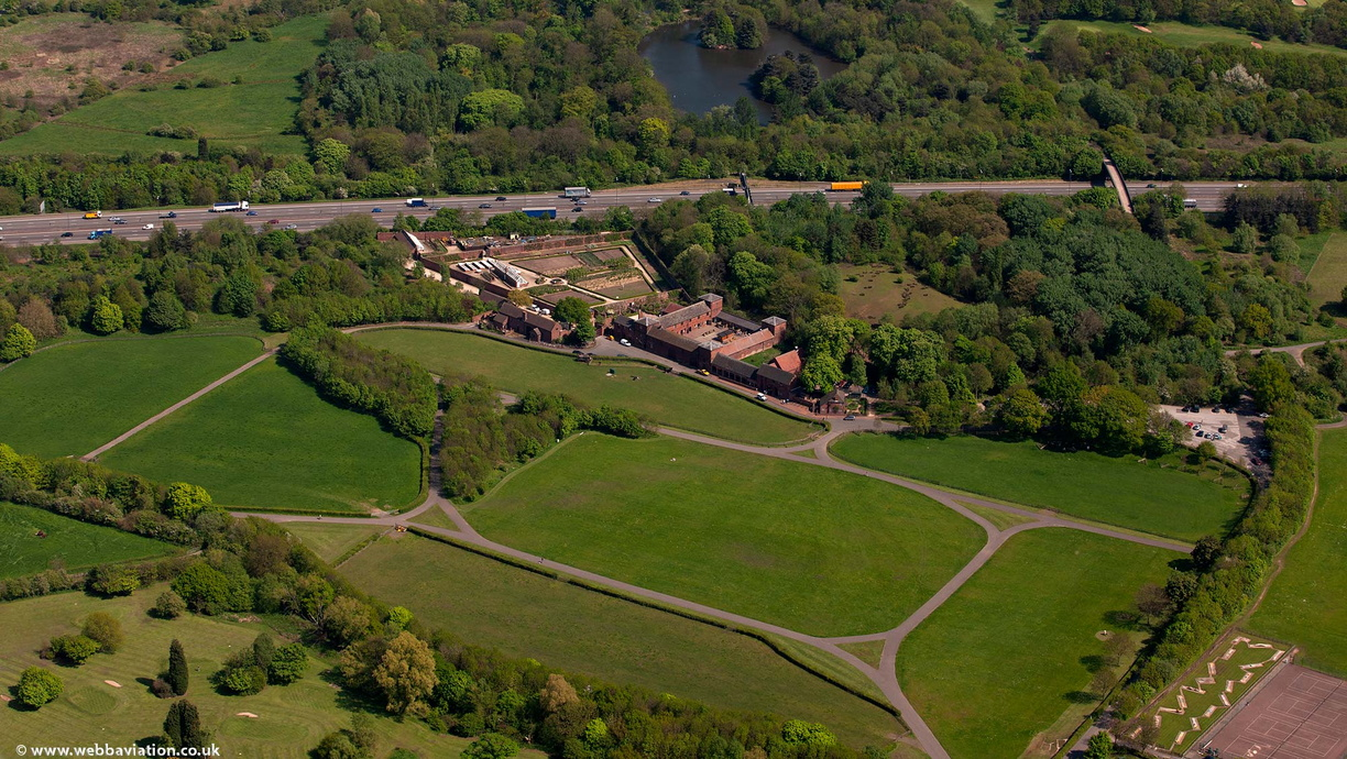 Sandwell Park Farm West Bromwich from the air