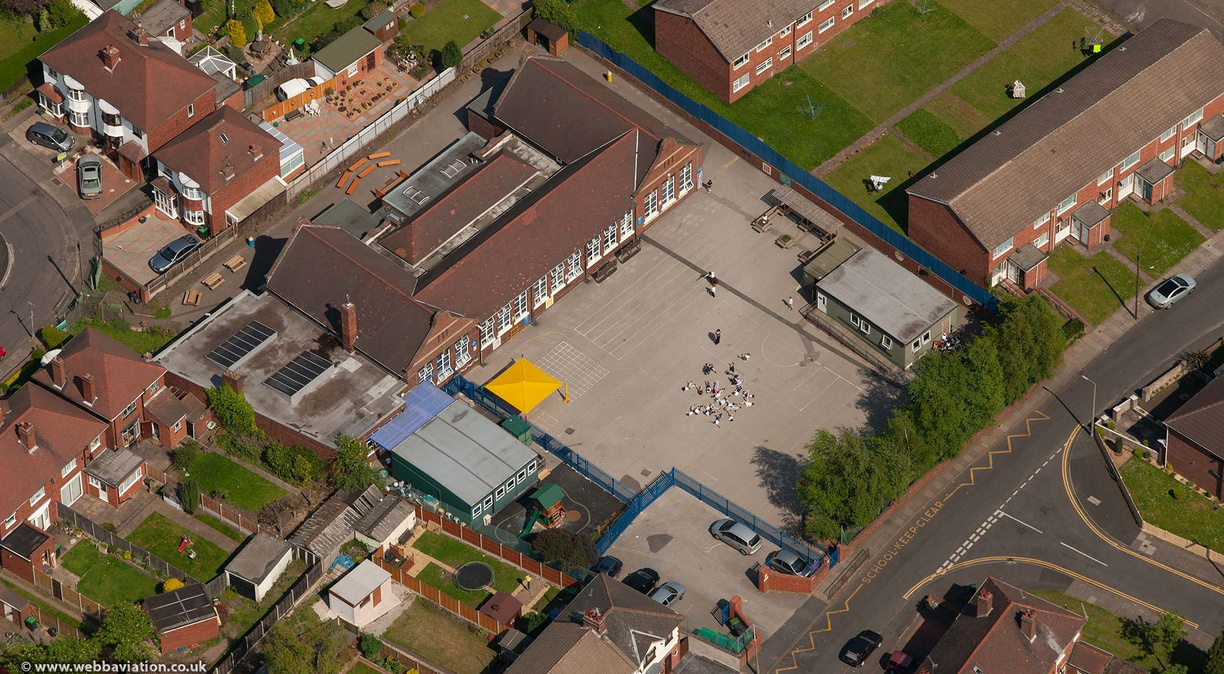 St Mary Magdalene C Of E Primary School West Bromwich from the air