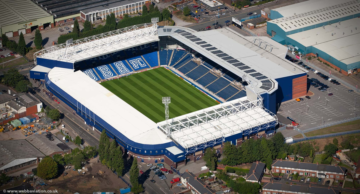The Hawthorns football stadium West Bromwich from the air
