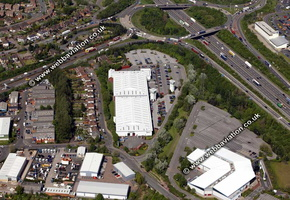 Bentley Mill Way Walsall West Midlands aerial photograph