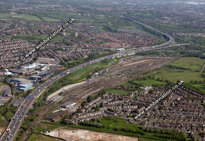 Brescot marshaling yard Walsall West Midlands aerial photograph