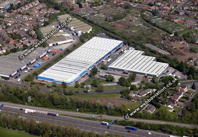 Maple Leaf Industrial Estate   Walsall West Midlands aerial photograph
