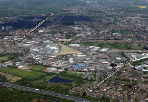 Bloxwich Walsall West Midlands aerial photograph