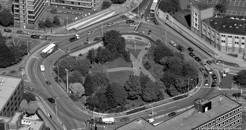 Chapel Ash Island roundabout , Wolverhampton from the air