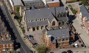 St Mary and St John Church, Wolverhampton from the air