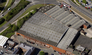Cleveland Road Bus Depot, Wolverhampton, from the air