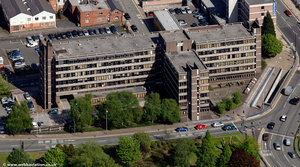 Crown House home to  HM Revenue & Customs   Wolverhamptonfrom the air