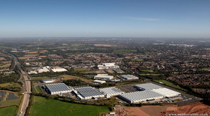 Jaguar Land Rover Engine Manufacturing Centre  Wolverhampton from the air