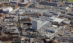 Mander shopping centre Wolverhampton West Midlands aerial photograph