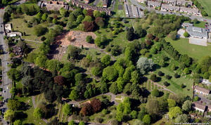 Merridale Cemetery. Also known as Wolverhampton General Cemetery Wolverhampton from the air