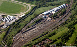 Alstrom Midlands Traincare Centre from the air