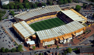 the Molineux Stadium Wolverhampton from the air