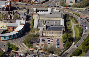 St George's Church / Sainsbury's Supermarket Wolverhampton from the air