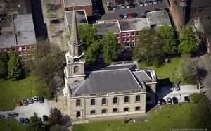 St. John's Church Wolverhampton from the air