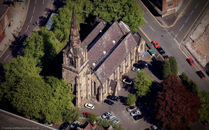 St. Mark's Church, Wolverhampton, from the air