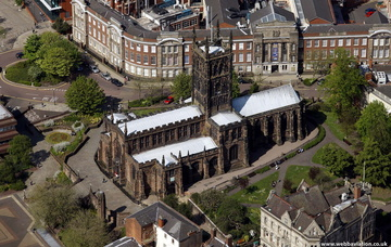 St Peters Church Wolverhampton West Midlands aerial photograph